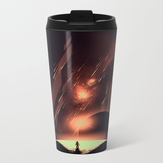 Intergalactic Travel Metal Travel Mug