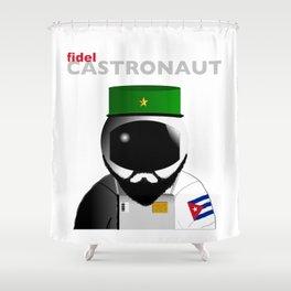 Fidel Castronaut Shower Curtain