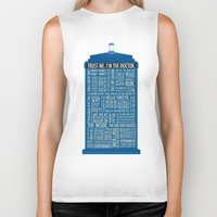 luke hemmings Biker Tanks featuring Doctor Who  by Luke Eckstein
