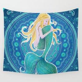 Sleeping Mermaid Wall Tapestry