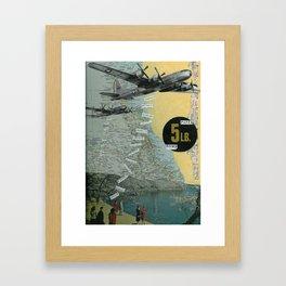 5 Lb. Paper Bomb Framed Art Print