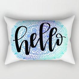 Ombre Hello Mandala Rectangular Pillow