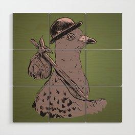 Hobo Pigeon Wood Wall Art