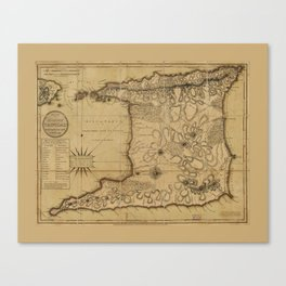 Map of the Isle of Trinidad (1797) Canvas Print