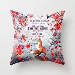 Shadow of the Fox Throw Pillow