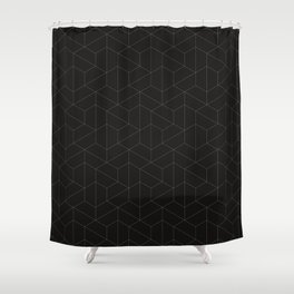 Hexagonal Geometric Pattern Shower Curtain