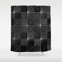 diamond Shower Curtains featuring Diamond by Dood_L