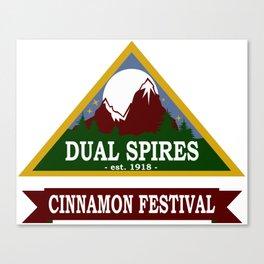 Psych - Dual Spires Cinnamon Festival Canvas Print