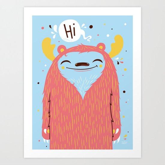 Hi Art Print