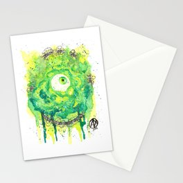 Eyes Series GREEN Stationery Cards