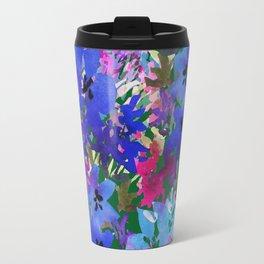 Cool Blue Summer Garden Travel Mug