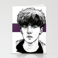 exo Stationery Cards featuring Sehun EXO Exodus by fabisart