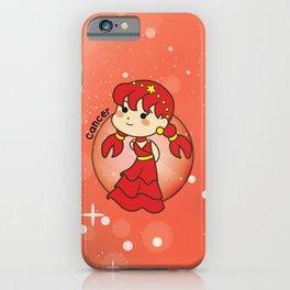 Cute Cancer Chibi Girl iPhone Case