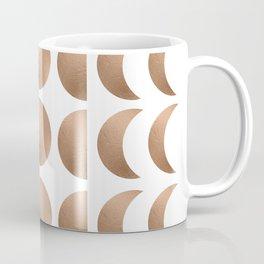 Rose Gold Moon Phase Pattern Coffee Mug