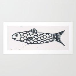 fish sardine Art Print