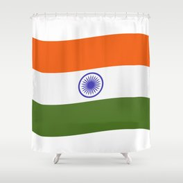 india flag Shower Curtain