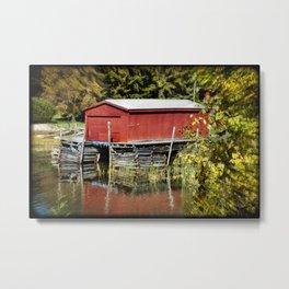 Michigan Boathouse Metal Print
