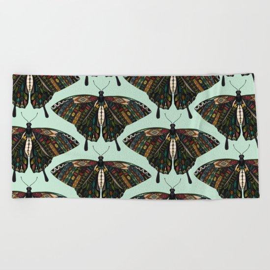 swallowtail butterfly mint Beach Towel
