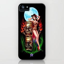 Tiki Moon iPhone Case