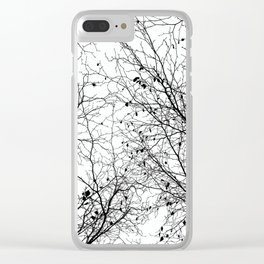 Tree Silhouette Series 2 Clear iPhone Case