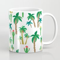 palm Mugs featuring palm by Ceren Aksu Dikenci
