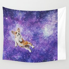 Space Corgi Wall Tapestry