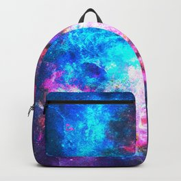 Colorful Watercolor Abstract background. Multicolor psychedelic pink blue neontexture tie dye Backpack