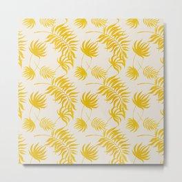 Luxury Gold Leaf on Cream Metal Print