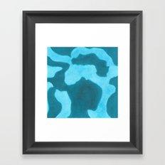 Blue Rising Framed Art Print