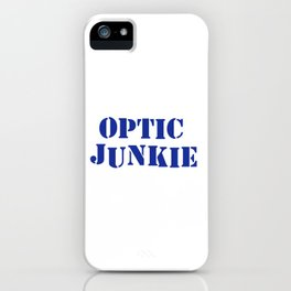 Optic junkie music quote iPhone Case