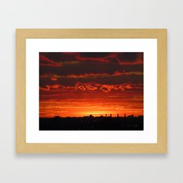 Sunset/Cityscape 2 Framed Art Print
