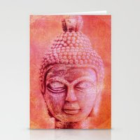 buddha Stationery Cards featuring Buddha by LebensART