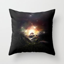 The Glass Mountain Throw Pillow