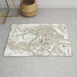 Vintage Luxembourg City Map (1907) Rug