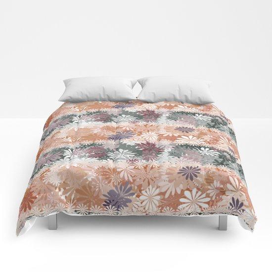 Floral Stripes Comforters