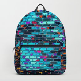 Colorful Abstract Brick Wall Backpack
