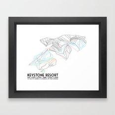 Keystone, CO - Minimalist Trail Map Framed Art Print