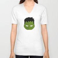 hulk V-neck T-shirts featuring Hulk by Oblivion Creative