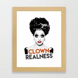 """Clown Realness"" Bianca Del Rio, RuPaul's Drag Race Queen Framed Art Print"