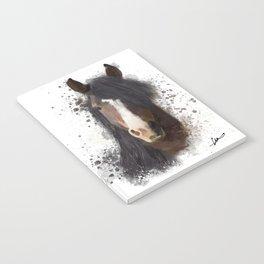 Black Brown Horse Artwork Notebook