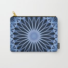 Blue mandala with flower shape Carry-All Pouch