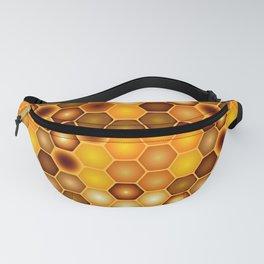 Golden Honeycomb Fanny Pack
