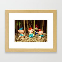 Tree Little Pigs Framed Art Print