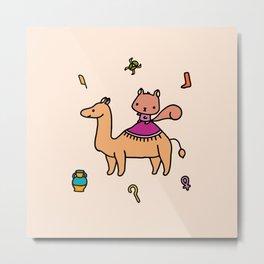 Squirrel and camel Metal Print