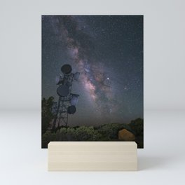 Milky Way over Mount Laguna Observatory Tower Mini Art Print