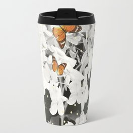 Hydrangea And Butterflies in Frame #decor #society6 Travel Mug