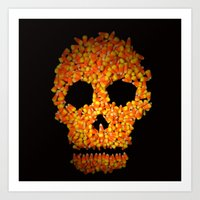 Candy Corn Skull Art Print