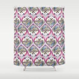 Hedgehog Heart Pattern Shower Curtain