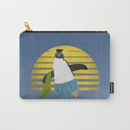 Northern Rockhopper Penguin on Spring Break Carry-All Pouch