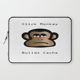 Click Monkey Builds Cache Laptop Sleeve